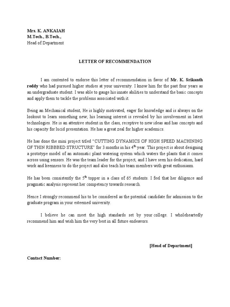 Sample Letters Of Recommendation For Graduate School Admission Trevor de Clercq