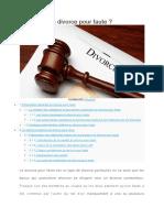 Définition d'un Divorce Pour Faute
