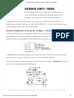 Circuito Amplificador de Áudio de 14 Watts - TDA2030 - Nova Eletrônica