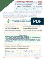 Semana 1-Dia 3-PS-3 Identificamos criterios para tomar decisiones-