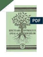 Norme tehnice privind efectuarea controlului anual al regenerărilor