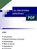 Les électrodes sélectives