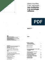 Bourdieu y Wacquant - Una Invitación a la Sociología Reflexiva