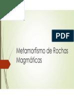 Metamorfismo de Rochas Magmáticas