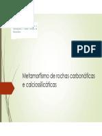 Metamorfismo de rochas carbonáticas e calciossilicáticas