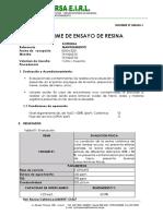 Analisis de Resinas Cationica - Soprinsa -662