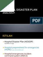 HOSPITAL DISASTER PLAN-analisis permasalahan