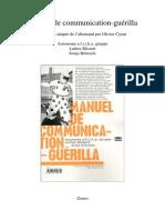 Afrika Blissett Brunzels Manuel de Communication Guerilla