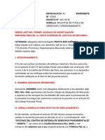 MODELO DE SOLICITUD DE TUTELA DE DERECHOS