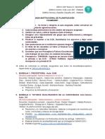 JORNADA INSTITUCIONAL DE PLANIFICACIÓN