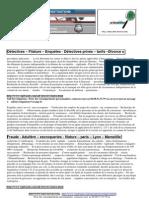 Détectives Privés , Paris Lyon Marseille, enquêtes, fraude, tarif, formation, détective