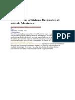 Introducción al Sistema Decimal en el método Montessori