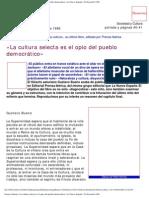 Bueno, Gustavo - La Cultura Selecta es el opio del gobierno democrático