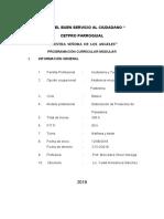 PROGRAMACION DE PANADERIA 2018