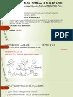 CIENCIAS NATURALES   SEMANA 12 AL 16 DE ABRIL