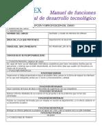 Manual de funciones