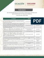 Calendario Actividades Conclusion EB 2020-2021