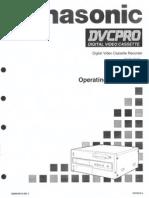 Panasonic AJD640 & 650 Op manual