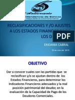 Reclasificaciones - Ajustes  a los Estados Financieros