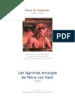 Fassbinder Rainer Werner - Las Amargas Lagrimas De Petra Von Kant
