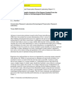 Wayne, C. y Hamilton, D.L. Mass Spectrographic Analysis Dehydration Archaeological Wood