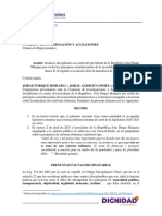 Denuncia Disciplinaria a Duque Reforma Tributaria 14.04.21