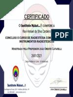 certificado RADIESTESIA