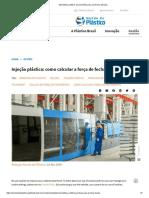 Injeção plástica - Como calcular força de fechamento