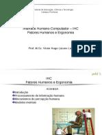 Interface Humano-Computador IHC Fatores Humanos e Ergonomia