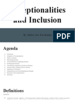 mini-pitch session  exceptionalities and inclusion