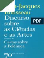 Discurso Sobre as Ciencias e as Artes - Jean-Jacques Rousseau