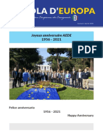 4 SCUOLA D'EUROPA APRILE 2021  AEDE 65 anni