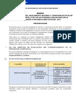 Reglamento de Atencion a Distancia Especificaciones 2021 Sbo