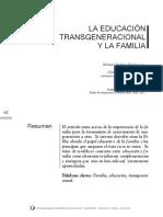 La Educacion Transgeneracional y La Familia