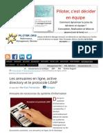 Annuaires, Active Directory Et Protocole LDAP_1617827630445
