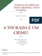 TRAJES DE TOURADA DE CHRISTIAN LACROIX_ ENTRE A MEMÓRIA, O RITO E A MODA