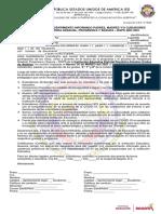 AUTORIZACIÓN Y CONSENTIMIENTO INFORMADO PADRES GRADOS 6°, 7° Y 8°