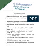 HISTÓRIA DOS DEPARTAMENTOS DA IAP
