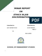 ethics in job discrimination