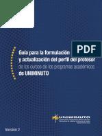 Guía para la formulación y actualización del perfil del profesor UNIMINUTO Colombia