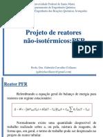 Projeto PFR não isotérmico