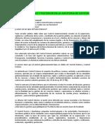 Control Interno y Posterior en La Auditoria de Gestion