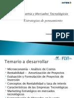 Economía y Mercados Tecnológicos  Ing Telecomunicaciones UADER 2020