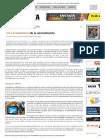 Revista ElectroIndustria - IoT y La Importancia de La Automatización