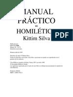Manual práctico de homilética - Kittim Silva