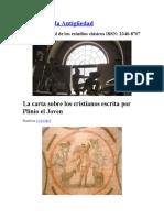 LA CARTA SOBRE LOS CRISTIANOS ESCRITA POR PLINIO EL JOVEN - Francisco García-Jurado - Reinventar la Antigüedad