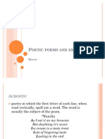 Poetic forms and examples