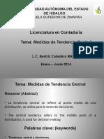 Medidas de Tendencias Central