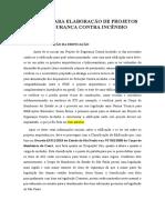 MANUAL PARA ELABORAÇÃO DE PROJETOS DE SEGURANÇA CONTRA INCÊNDIO