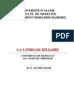 lithiase biliaire (résidanat)